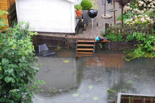 juli 2014: Forse buien in Valkenkamp