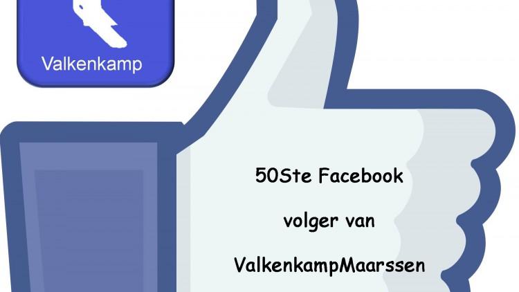 sep 2014: 50ste Facebook volgster