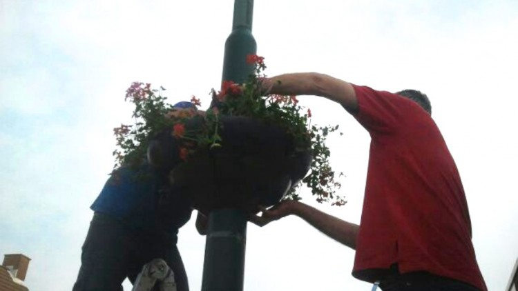okt 2014: Hanging Baskets eraf
