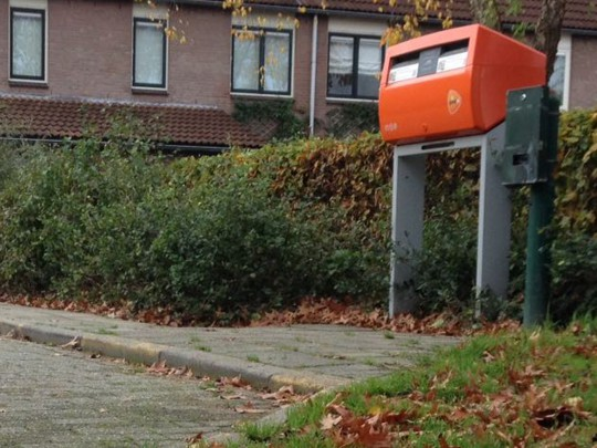 nov 2014: Even stoppen bij de brievenbus (zonder bon)