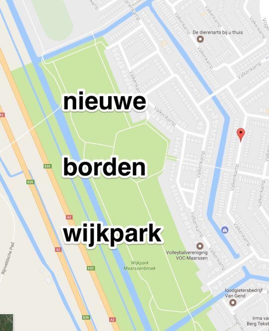 april: Nieuwe borden in Wijkpark
