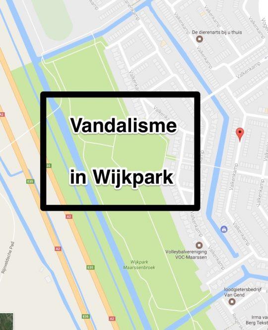 1 mei: Vandalisme in wijkpark