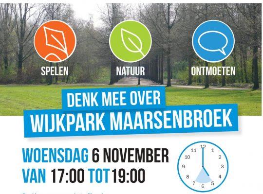 Groener, gezelliger en gezonder wijkpark ?