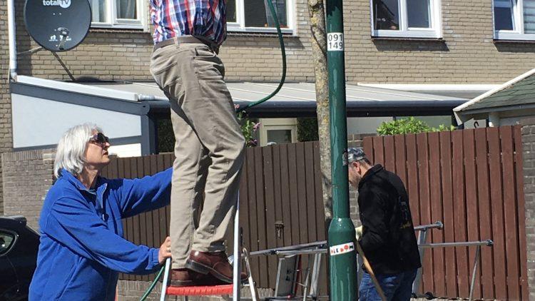 Hanging Baskets vleuren wijk op