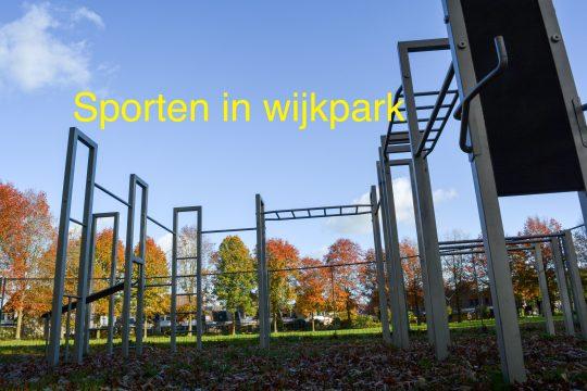 sporten in het Wijkpark
